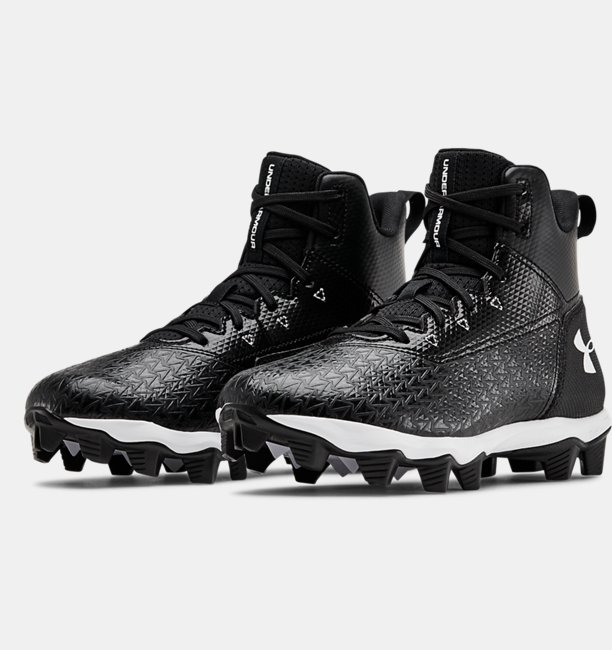 Boys UA Hammer Mid RM Jr. Football Cleats